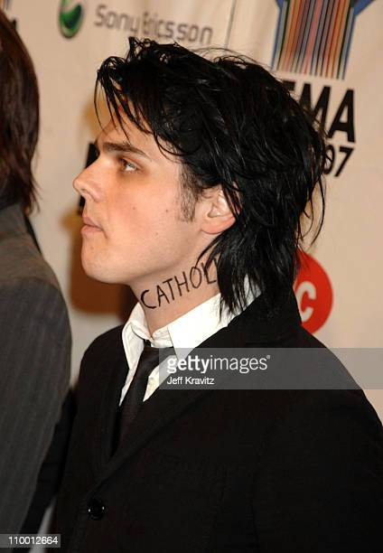 Singer/guitarist Gerard Way of My Chemical Romance attends the 2007 MTV Europe Music Awards held at the Olympiahalle on November 1 2007 in Munich...