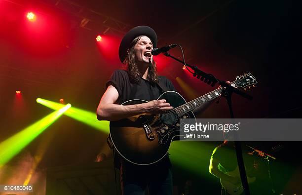 Singer/guitarist James Bay performs at The Fillmore Charlotte on September 25, 2016 in Charlotte, North Carolina.