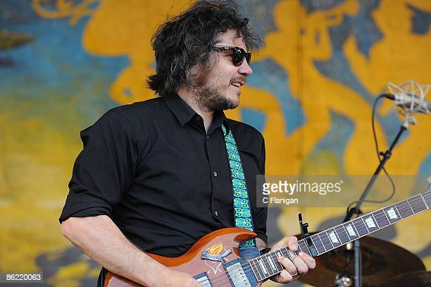 Singer/Guitarist Jeff Tweedy of Wilco performs during day 2 of the 2009 New Orleans Jazz Heritage Festival Presented by Shell at the New Orleans...