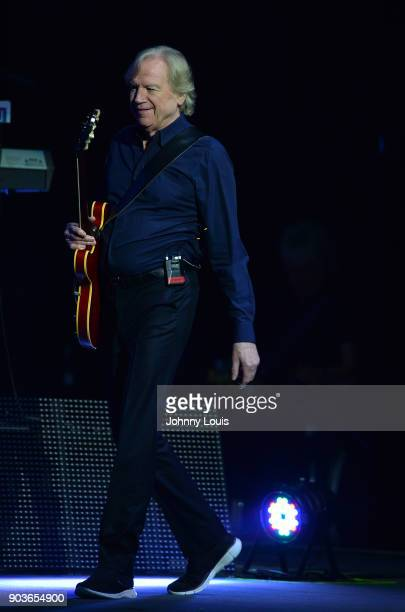 Singer/guitarist Justin Hayward of The Moody Blues performs at Hard Rock Live in the Seminole Hard Rock Hotel Casino on January 10 2018 in Hollywood...