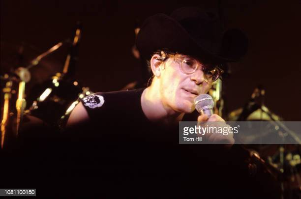 Singerguitarist Mark Mothersbaugh of Devo performs at The Agora Ballroom on July 27 1979 in Atlanta Georgia