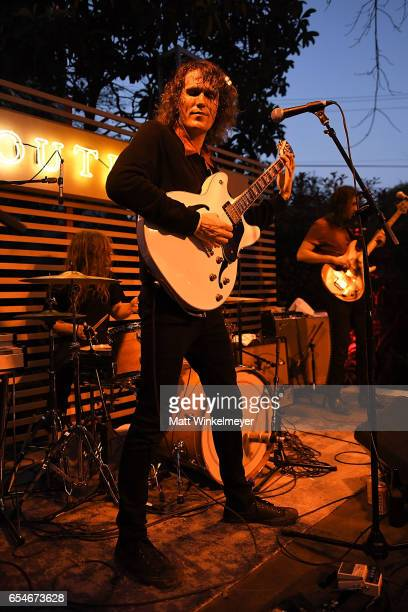 Singer/guitarist Mike Brandon of The Mystery Lights performs during the Levis Outpost Rollingstone 2017 SXSW Conference and Festivals on March 17...