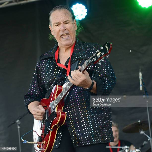 Singer/guitarist Mike Pinera of the classic rock band's Iron Butterfly and Blues Image performs onstage on May 23 2015 in Bakersfield California