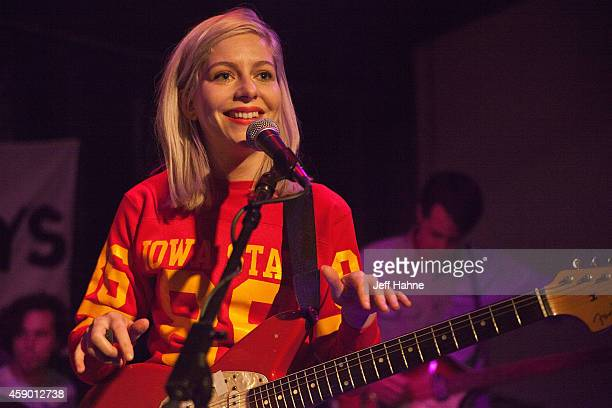 Singer/guitarist Molly Rankin of Alvvays performs at the Neighborhood Theatre on November 14 2014 in Charlotte North Carolina
