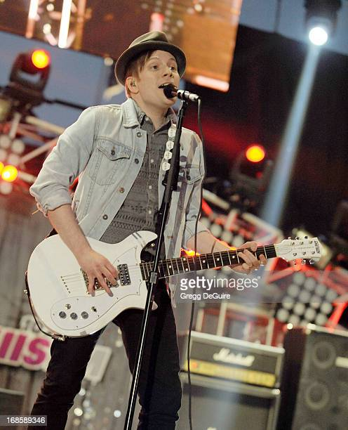 Singer/guitarist Patrick Stump of Fall Out Boy performs at 102.7 KIIS FM's Wango Tango at The Home Depot Center on May 11, 2013 in Carson, California.