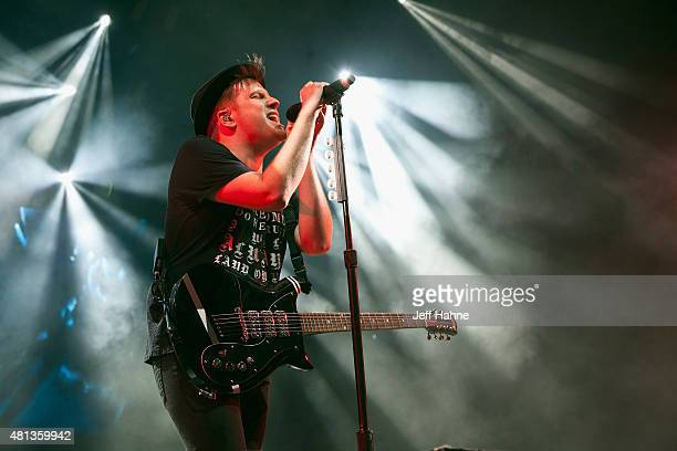 Singer/guitarist Patrick Stump of Fall Out Boy performs at PNC Music Pavilion on July 19 2015 in Charlotte North Carolina