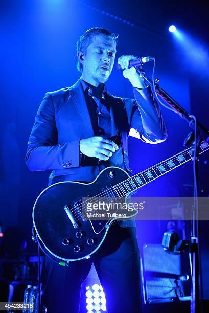 Singer/guitarist Paul Banks of Interpol performs at KCRW presents Interpol Live at Mack Sennett Studios on August 26 2014 in Los Angeles California