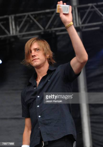 Singer/Guitarist Paul Banks of Interpol performs onstage at the Virgin Festival By Virgin Mobile 2007 at Pimlico Race Course on August 5 2007 in...