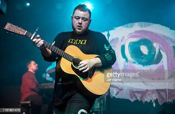 Singerguitarist Ragnar Porhallsson of Of Monsters and Men performs at The Fillmore on December 03 2019 in Charlotte North Carolina