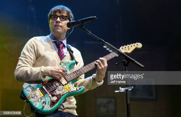 Singer/guitarist Rivers Cuomo of Weezer performs at PNC Music Pavilion on July 25 2018 in Charlotte North Carolina