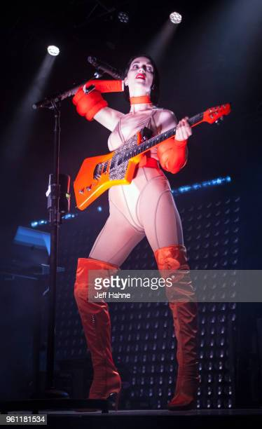 Singer/guitarist St Vincent performs at The Fillmore Charlotte on May 21 2018 in Charlotte North Carolina