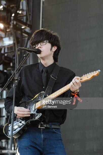 Singer/guitarist Will Toledo of Car Seat Headrest performs live on stage during the Sasquatch Festival at Gorge Amphitheatre on May 28 2017 in George...