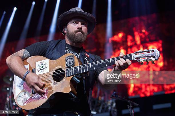 Singer/guitarist Zac Brown of the Zac Brown Band performs at PNC Music Pavilion on June 4 2015 in Charlotte North Carolina