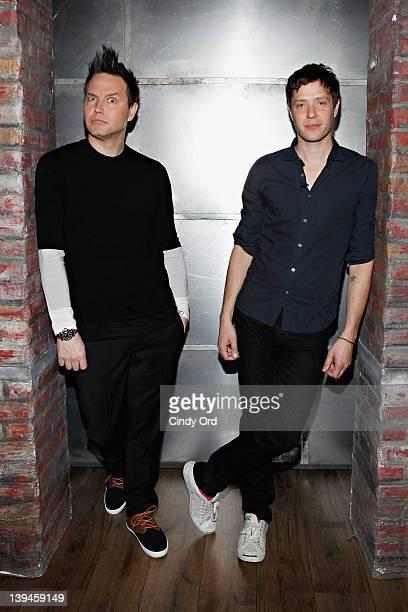 Singer/host Mark Hoppus and lead singer of OK Go Damian Kulash at fuse Studios on February 21 2012 in New York City