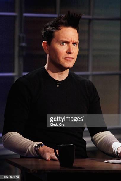 Singer/host Mark Hoppus at fuse Studios on February 21 2012 in New York City