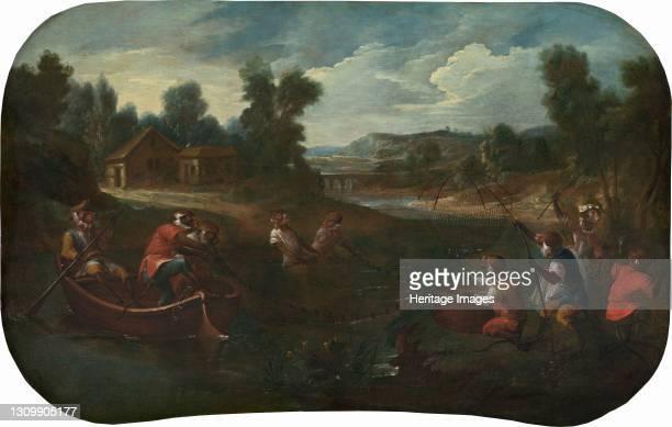 The Fishermen, circa 1739. Artist Christophe Huet. .