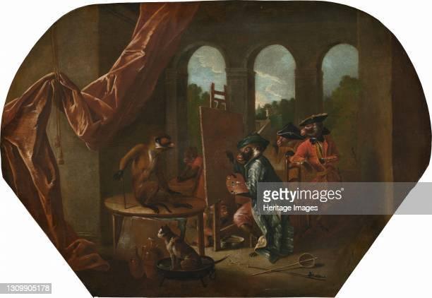 The Painter, circa 1739. Artist Christophe Huet. .