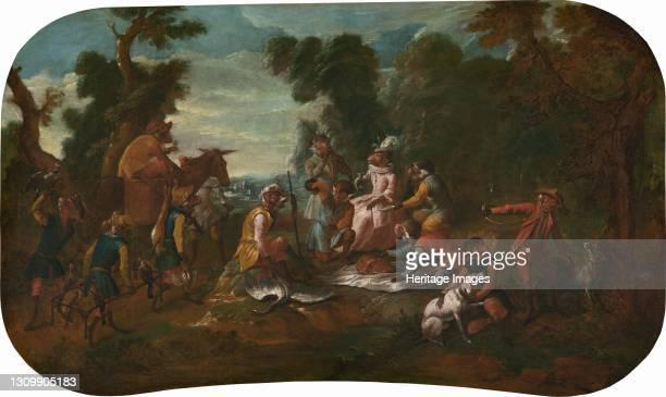 The Picnic, circa 1739. Artist Christophe Huet. .