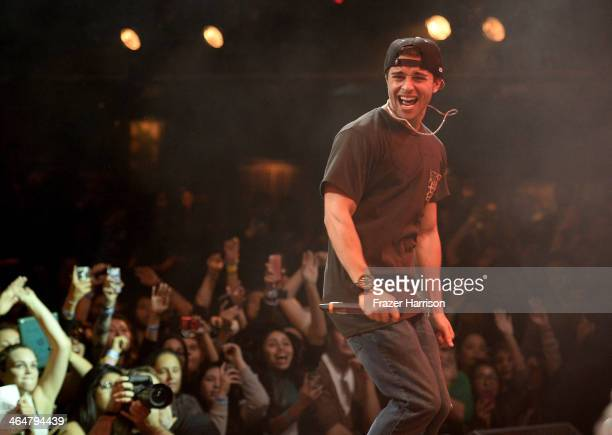"""SingerJake Miller, performs at MTV's 2014 """"Artist To Watch"""" Kickoff Event at the House of Blues Sunset Strip on January 23, 2014 in West Hollywood,..."""