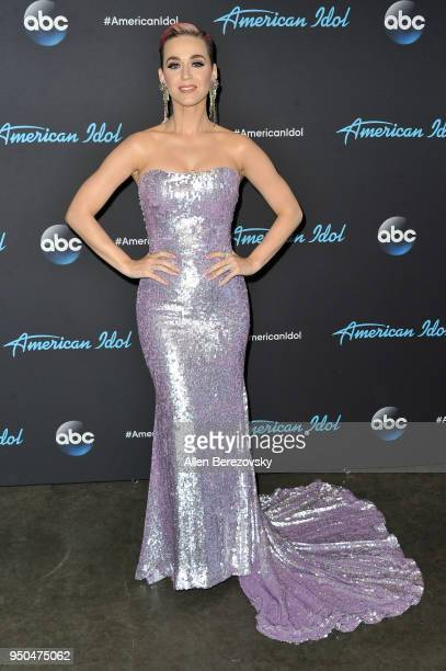 Singer/Judge Katy Perry arrives at ABC's 'American Idol' show on April 23 2018 in Los Angeles California