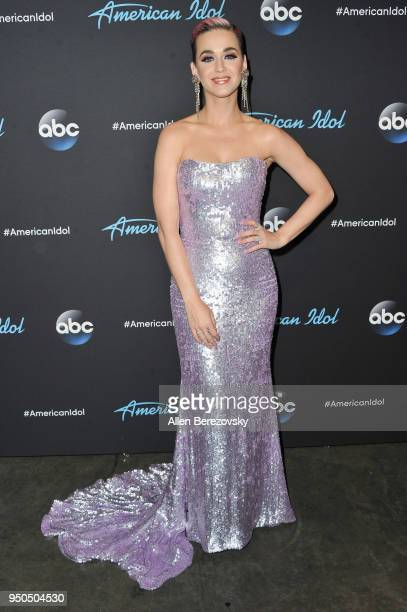 Singer/Judge Katy Perry arrives at ABC's American Idol show on April 23 2018 in Los Angeles California