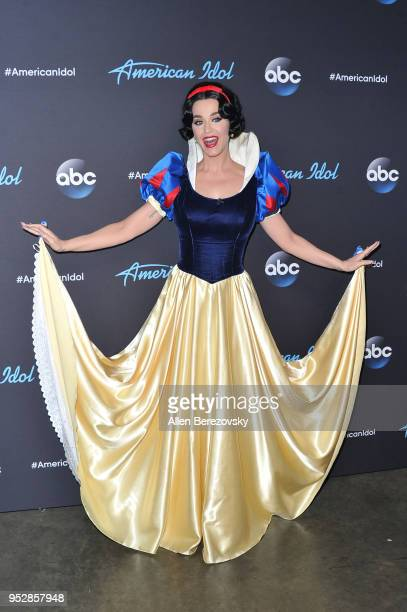 Singer/Judge Katy Perry arrives at ABC's American Idol show on April 29 2018 in Los Angeles California