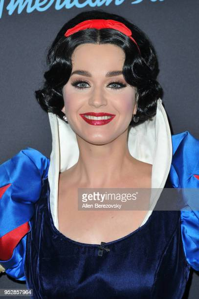 Singer/Judge Katy Perry arrives at ABC's 'American Idol' show on April 29 2018 in Los Angeles California