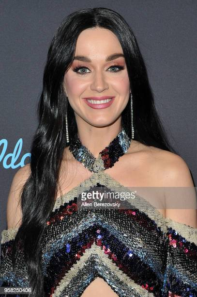 Singer/judge Katy Perry arrives at ABC's American Idol show on May 13 2018 in Los Angeles California