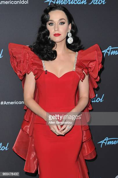 Singer/judge Katy Perry arrives at ABC's 'American Idol' show on May 6 2018 in Los Angeles California
