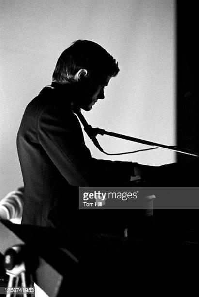 Singerkeyboardist Ralf Hütter of Kraftwerk performs at Alex Cooley's Electric Ballroom on April 21 1975 in Atlanta Georgia
