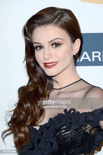 Singer/model Cher Lloyd arrives at Clive Davis The Recording Academy's 2013 PreGRAMMY Gala and Salute to Industry Icons honoring Antonio 'LA' Reid at...