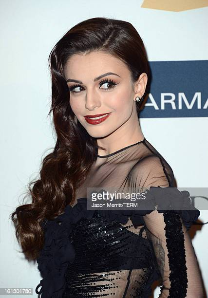 Singer/model Cher Lloyd arrives at Clive Davis The Recording Academy's 2013 PreGRAMMY Gala and Salute to Industry Icons honoring Antonio LA Reid at...
