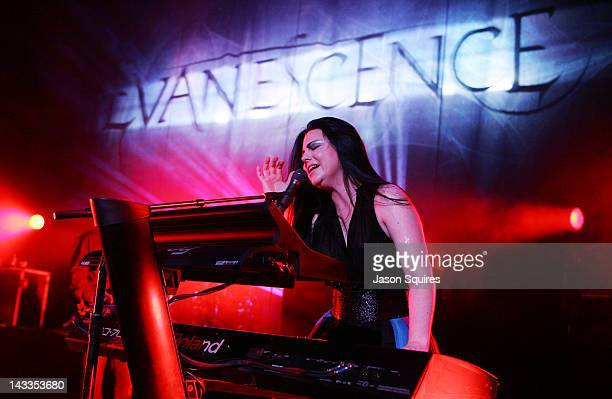 Singer/musician Amy Lee of Evanescence performs at The Midland by AMC on April 24 2012 in Kansas City Missouri