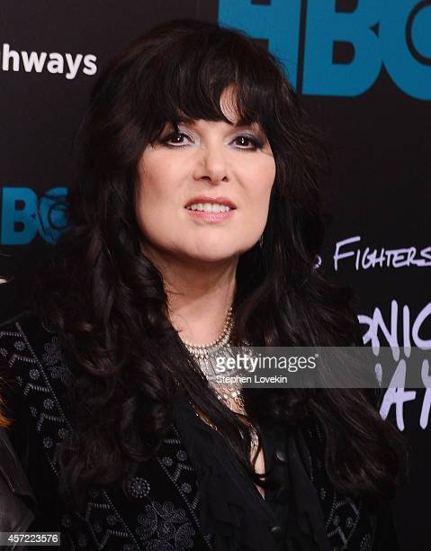 Singer/musician Ann Wilson of Heart attends The 'Foo Fighters Sonic Highways' New York Premiere at Ed Sullivan Theater on October 14 2014 in New York...