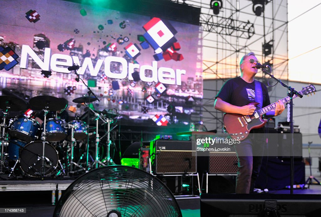 Singer/musician Bernard Sumner of New Order performs at Williamsburg Park on July 24, 2013 in Brooklyn, New York.