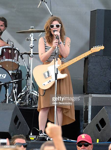 Singer/musician Bethany Cosentino of Best Coast performs at 2012 Nike US Open Of Surfing at Southside Huntington Beach Pier on August 1 2012 in...