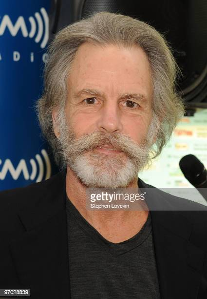Singer/musician Bob Weir receives a plaque for his support at SIRIUS XM Studio on February 24 2010 in New York City