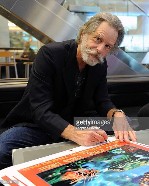 Singer/musician Bob Weir receives a plaque for his support of The TJ Martell Foundation at SIRIUS XM Studio on February 24 2010 in New York City
