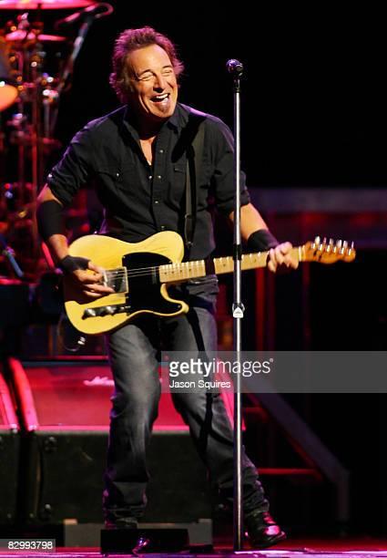 Singer/musician Bruce Springsteen performs at Sprint Center on August 24 2008 in Kansas City Missouri