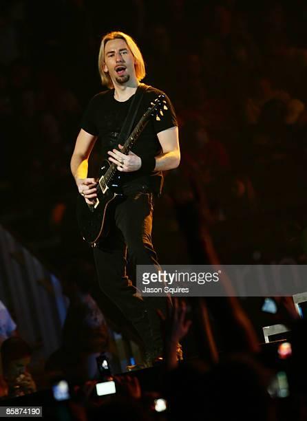 Singer/musician Chad Kroeger of Nickelback performs at Sprint Center on April 8 2009 in Kansas City Missouri