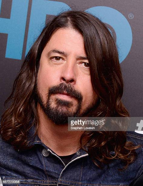Singer/musician Dave Grohl of The Foo Fighters attends The Foo Fighters Sonic Highways New York Premiere at Ed Sullivan Theater on October 14 2014 in...