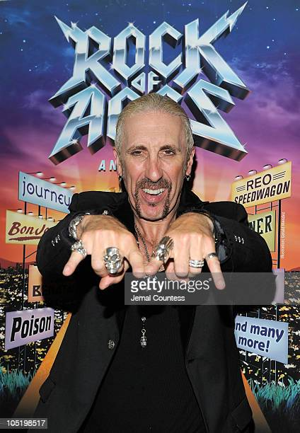Singer/musician Dee Snider attends the after party for Dee Snider's Broadway debut in Rock of Ages at The Glass House Tavern on October 11 2010 in...