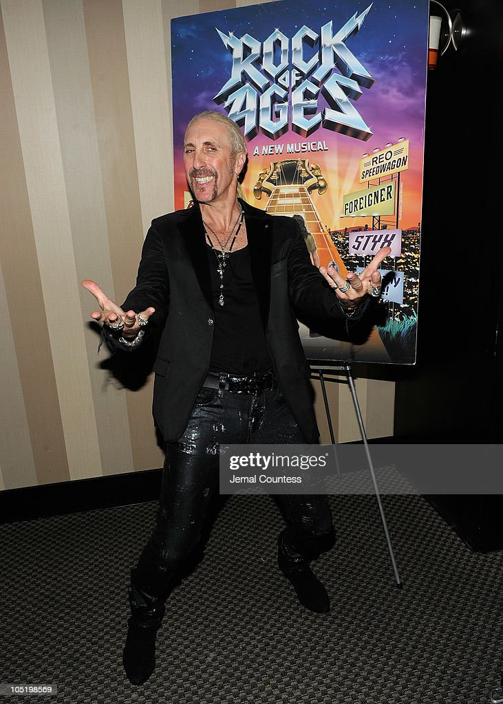 Singer/musician Dee Snider attends the after party for Dee Snider's Broadway debut in 'Rock of Ages' at The Glass House Tavern on October 11, 2010 in New York City.