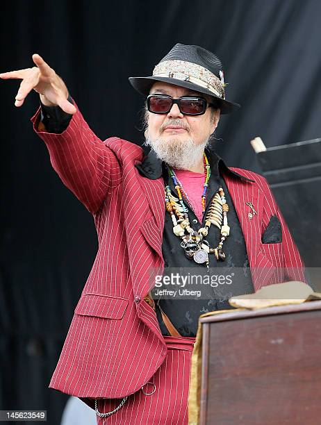 Singer/musician Dr John performs at the 23rd annual Michael Arnone Crawfish Fest at the Sussex County Fairgrounds on June 2 2012 in Augusta New Jersey