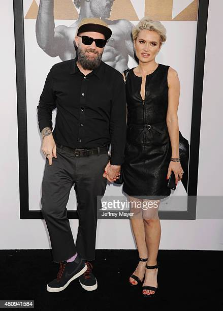 Singer/musician Fred Durst and Kseniya Beryazina arrive at the Los Angeles World Premiere of Warner Bros Pictures' 'Magic Mike XXL' at TCL Chinese...