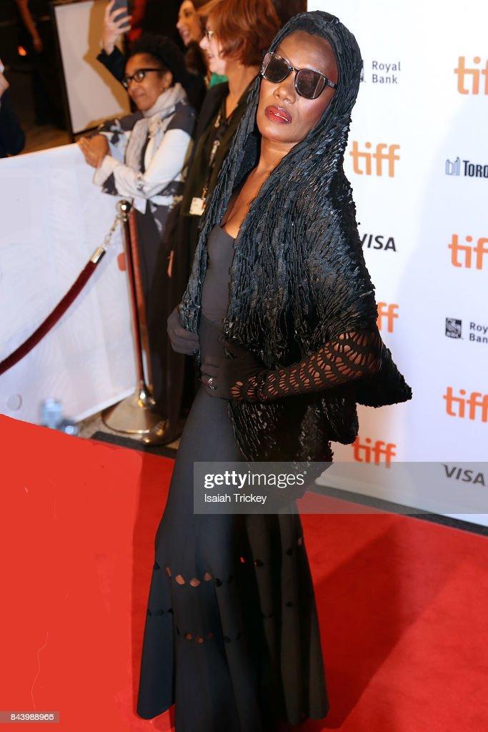 Singer/musician Grace Jones attends the 'Grace Jones: Bloodlight And Bami' premiere during the 2017 Toronto International Film Festival at The Elgin on September 7, 2017 in Toronto, Canada.