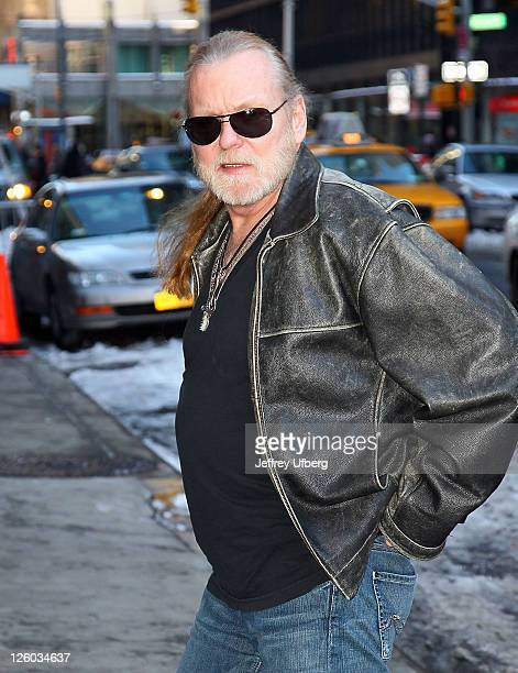 Singer/musician Gregg Allman visits 'Late Show With David Letterman' at the Ed Sullivan Theater on January 13 2011 in New York City