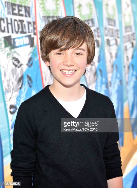 Singer/musician Greyson Chance arrives at the 2010 Teen Choice Awards at Gibson Amphitheatre on August 8 2010 in Universal City California