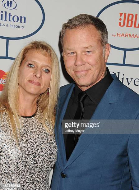 Singer/musician James Hetfield of Metallica and Francesca Hetfield attend the 56th annual GRAMMY Awards PreGRAMMY Gala and Salute to Industry Icons...