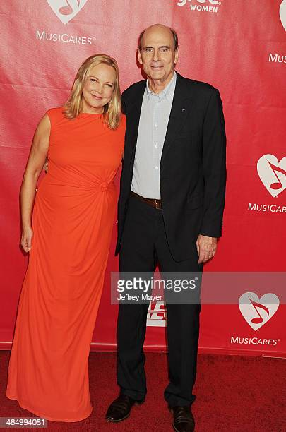 Singer/musician James Taylor and Kim Taylor attend 2014 MusiCares Person Of The Year Honoring Carole King at Los Angeles Convention Center on January...